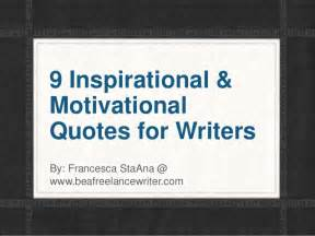Inspirational Writer Quotes