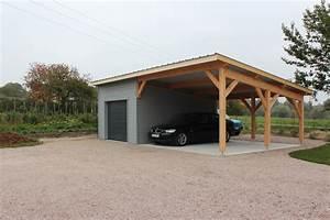 Garage Ossature Bois : auvent carports nordi bois construction maisons ~ Melissatoandfro.com Idées de Décoration