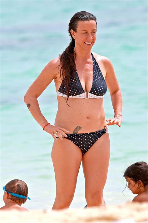 jamie harrison spent so long canadian american singer alanis morissette hot bikini