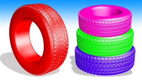 Learn Colors With Car Tires For Kids