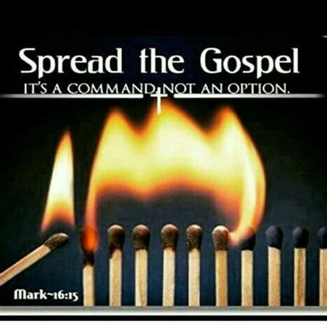 spread  gospel   command   option mark