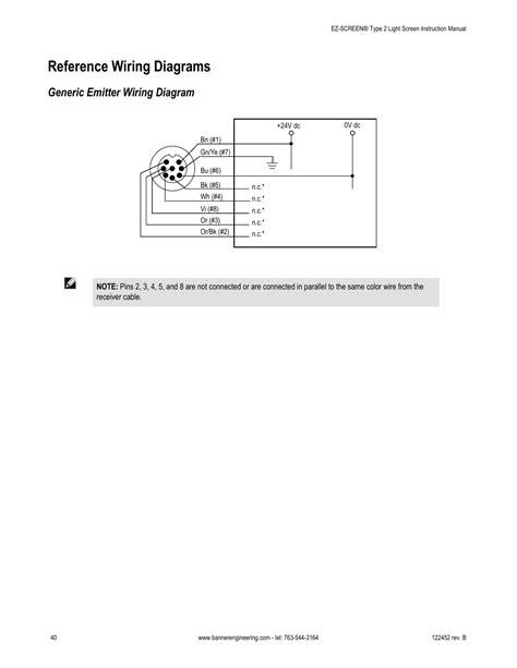 reference wiring diagrams generic emitter wiring diagram banner ez screen 173 safety light