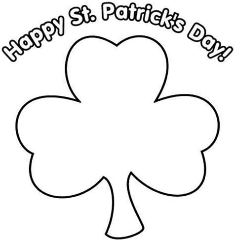 leaf clover coloring page coloring home