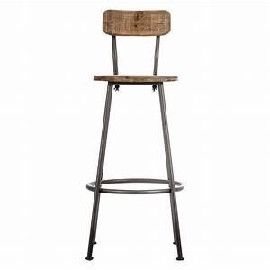Chaise bar industriel