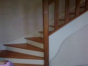 Renovation D Escalier En Bois : r novation peinture et vitrification escalier sur le mans ~ Premium-room.com Idées de Décoration