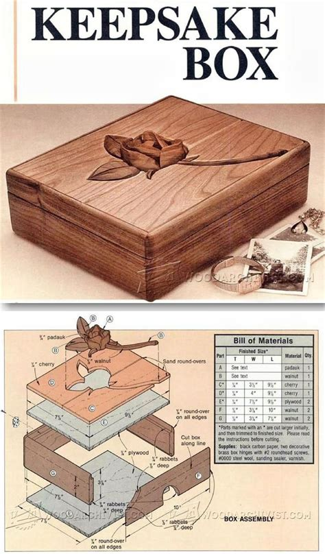 keepsake box plans woodworking plans  projects