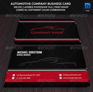 20 cool automotive business cards psds for Automotive mechanic business card