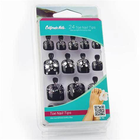 glitzer zum aufkleben toe nail tips in schwarz silber glitzer strasssteine 8 99