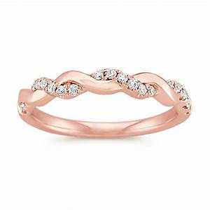 infinity rose gold engagement ring with diamond twist halo With infinity wedding band and engagement ring