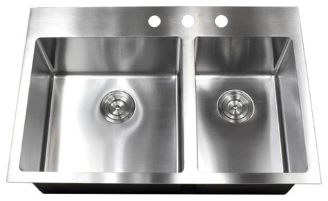 top mountdrop  stainless steel double bowl kitchen