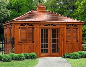 Red Cedar Rectangle Cabanas Custom Cabanas
