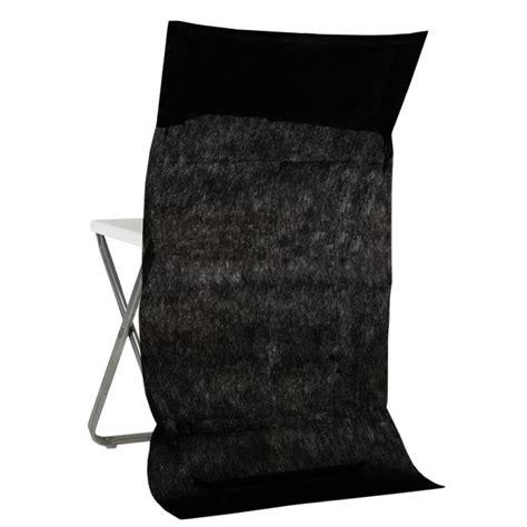 housse de chaise dossier rond housse dossier de chaise intissé noir les 10 achat housses