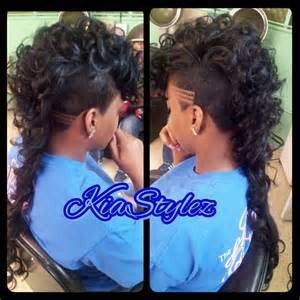 Curly Mohawk Hairstyles Long Hair