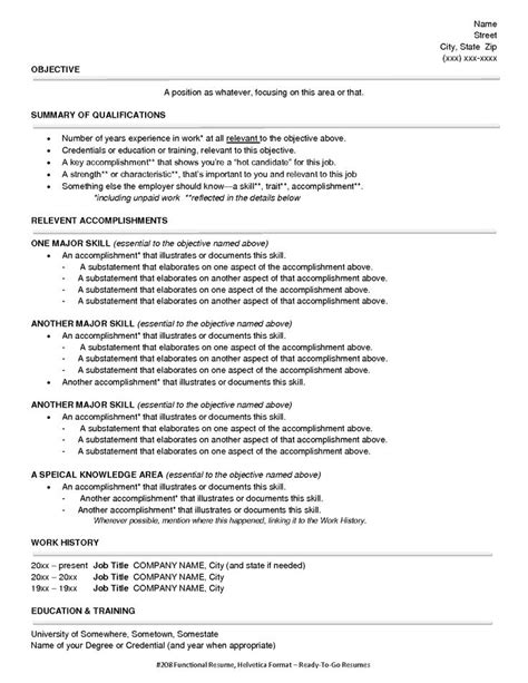 Resumes Without Titles by Resume Formats Jobscan