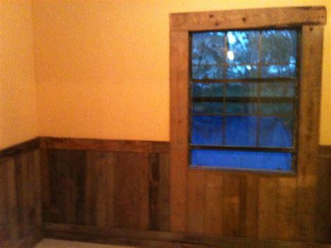 pallet boards  rustic   bedroom wall  window