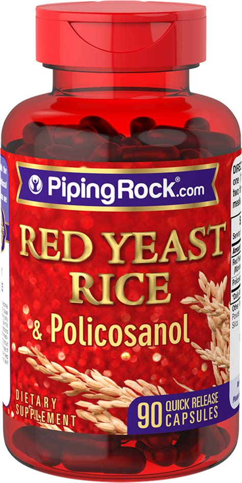 Red Yeast Rice and Policosanol 90 Capsules | Reviews ...