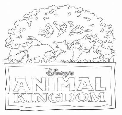 Disney Animal Coloring Pages Kingdom Epcot Around