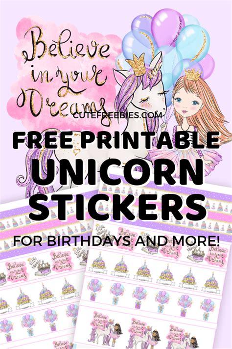 unicorn birthday planner stickers  printable cute