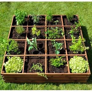 Carré Potager Gamm Vert : carr potager bois trait l120 l120 cm lignz 123x29x11 cm ~ Dailycaller-alerts.com Idées de Décoration