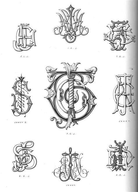 vintagemonogram monogram tattoo monogram lettering alphabet