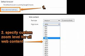 How To Set Default Zoom Level In Google Chrome?
