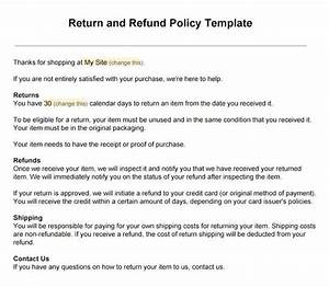 sample return policy for ecommerce stores termsfeed With returns policy template