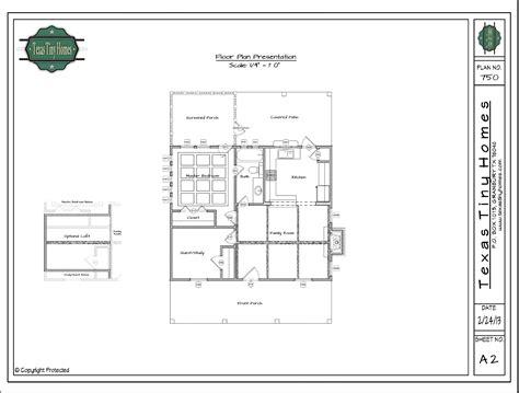Texas Tiny Homes Plan 750