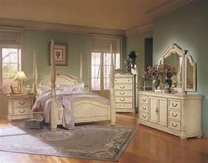 Antique white bedroom furniture furniture for Vintage bedroom set