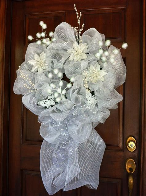 Wedding Mesh Wreath