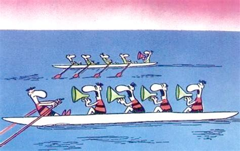Management Boat Cartoon by Workers Hugo Ferreira