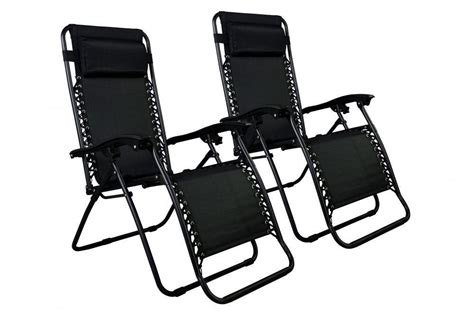 zero gravity chairs of 2 black lounge patio chair