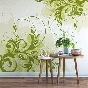 K L Wall Art : fototapete ornament gr n geschwungene dekoration von k l wall art wall ~ Buech-reservation.com Haus und Dekorationen