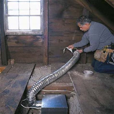 bathroom vent fan installation attach the exhaust duct to the wall cap installing a