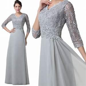 Mother of the bride formal evening dress celebrity wedding for Ebay wedding guest dresses