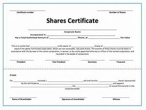 10 share certificate templates word excel pdf templates With shareholders certificate template free
