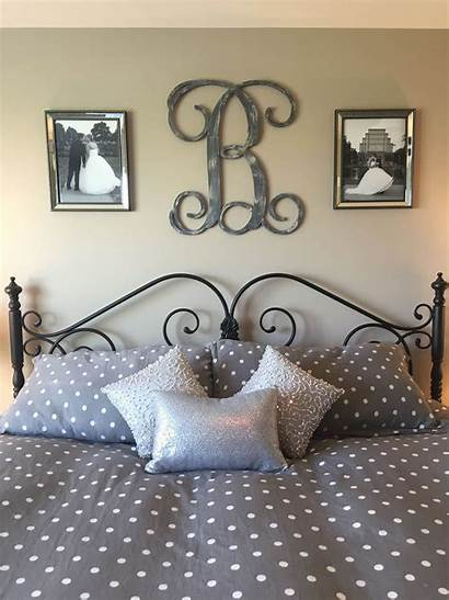 Bedroom Wall Decor Bed Above Master Monogram