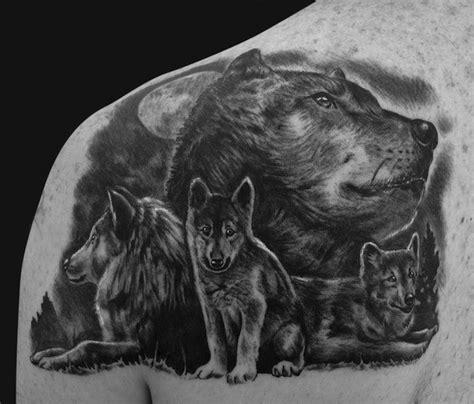 modeles de tatouage loup pour femmes  hommes