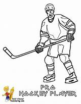 Hockey Coloring Player Sheets Pages Players Sports Boys Yescoloring Trick Hat sketch template
