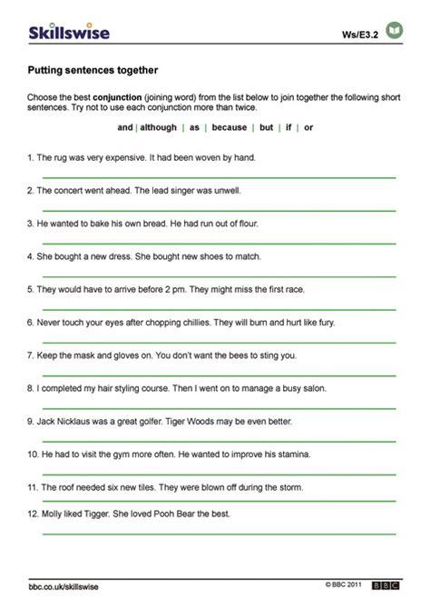 Putting Sentences Together