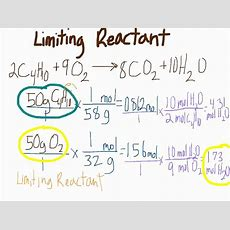 Limiting Reactant Problem Youtube