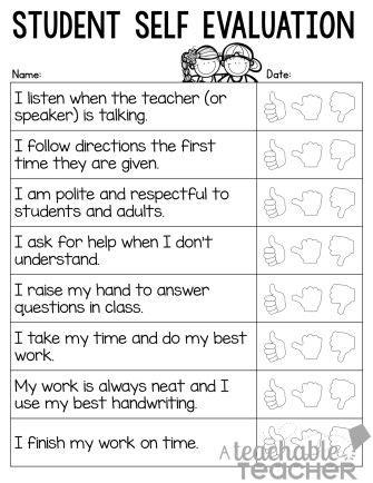 ideas  student  evaluation  pinterest