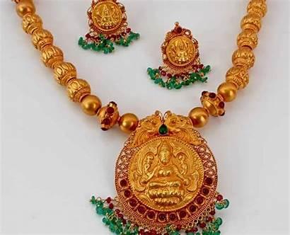 Temple Jewellery Necklace Gold Lakshmi Jewelry Designs