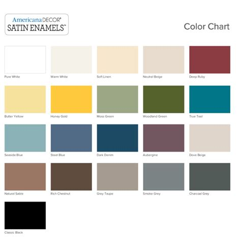 americana decor satin enamels color chart momhomeguide com
