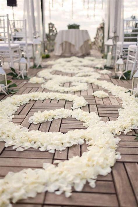 40 Romantic Wedding Aisle Petals Decor Ideas Deer Pearl