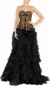 Alexander Mcqueen Embroidered Silk-Faille And Organza Gown ...