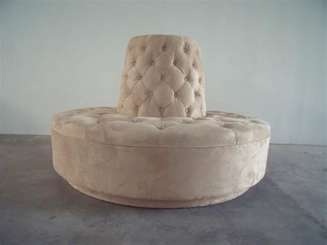 Best Interior Designed Homes - round settee for entryway homesfeed
