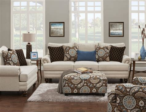 fusion furniture  stationary living room group royal