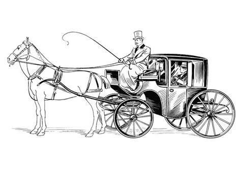 Malvorlage Kutsche Mit Pferd Und Reiter