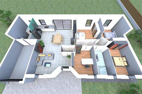 maison 2 chambres plan 3d d 39 un de nos modèles de maison avec 4 chambres un