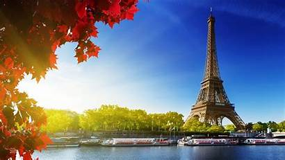 France Paris Eiffel Tower Autumn Desktop Fall